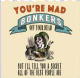 Alice In Wonderland You're Mad, Bonkers, Off Your Head... drinks mat / coaster (og)